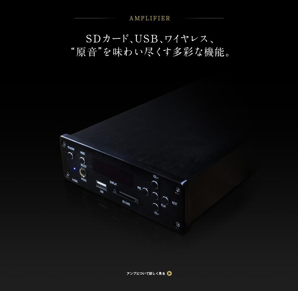 SDカード、USB、ワイヤレス、「音原」を味わい尽くす多彩な機能